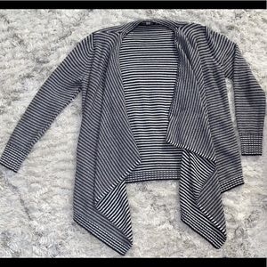 Black and White Wrap Cardigan